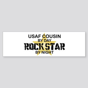 USAF Cousin Rock Star by Night Bumper Sticker
